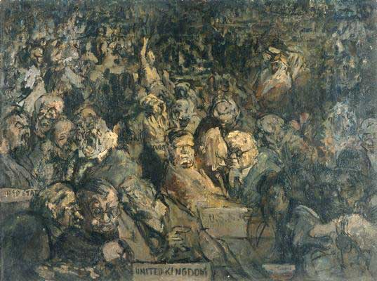 The first meeting of the United Nations, as seen by Feliks Topolski, 19