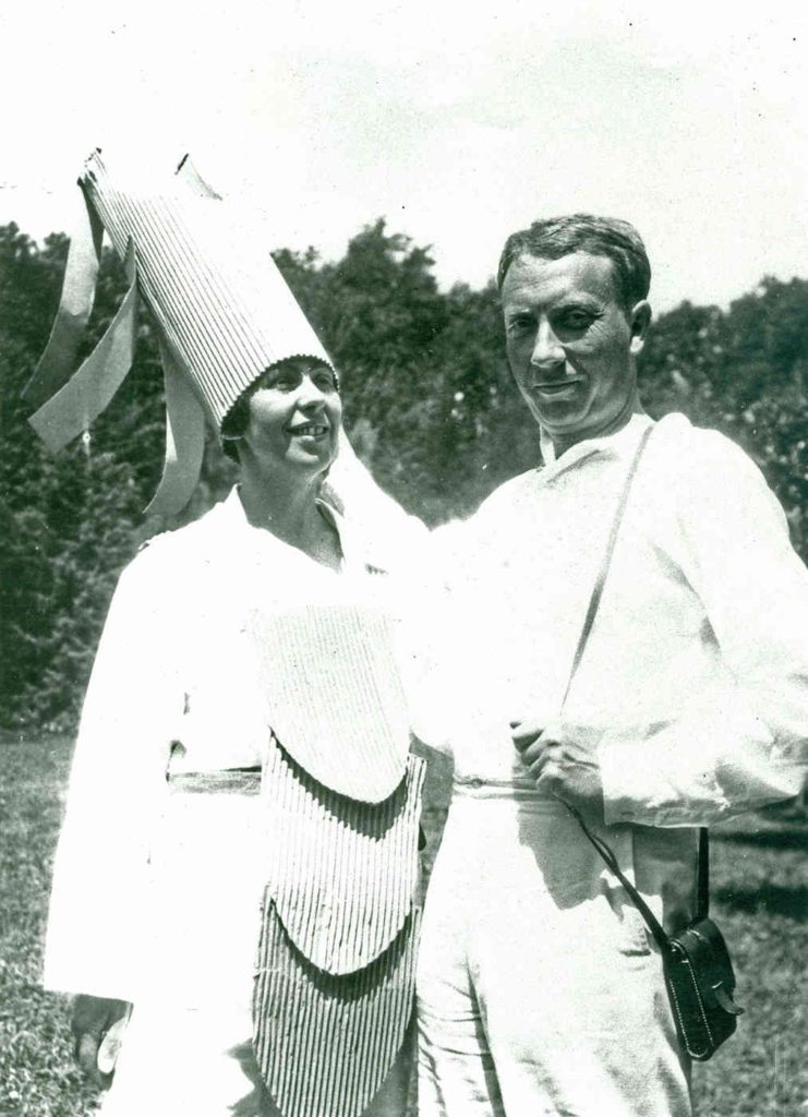 Sophie Tauber Arp (left) and Jean Arp