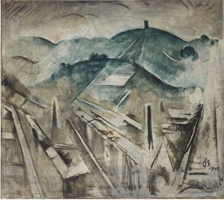 """""""Stuttgart Landscape,"""" 1912"""