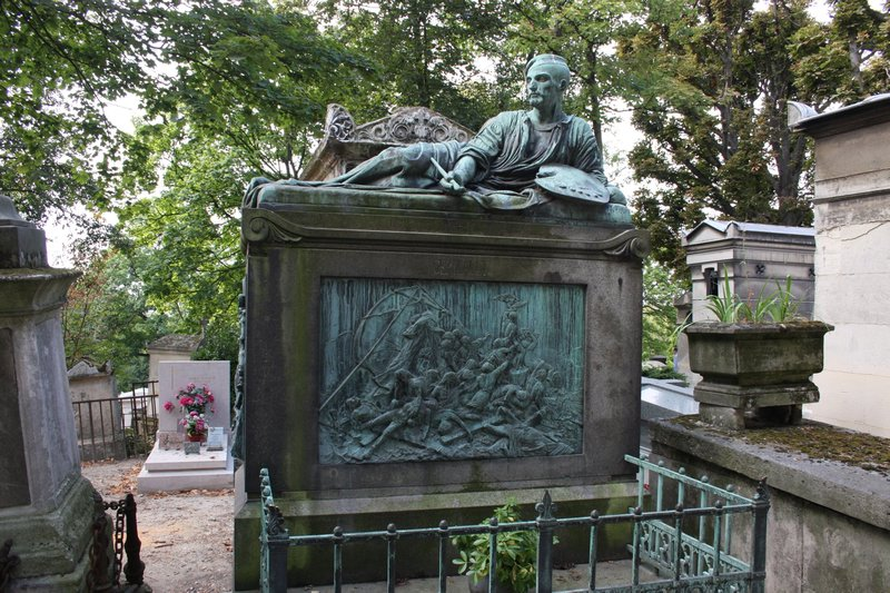 Grave of , Pére Lachaise Cemetery, Paris, France