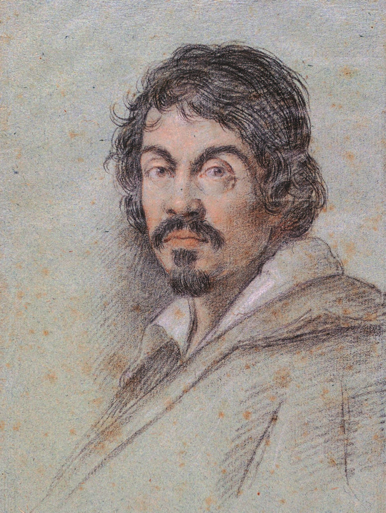 Portrait of Caravaggio, by Ottavio Leoni, 1621 - charcoal and pastel on paper