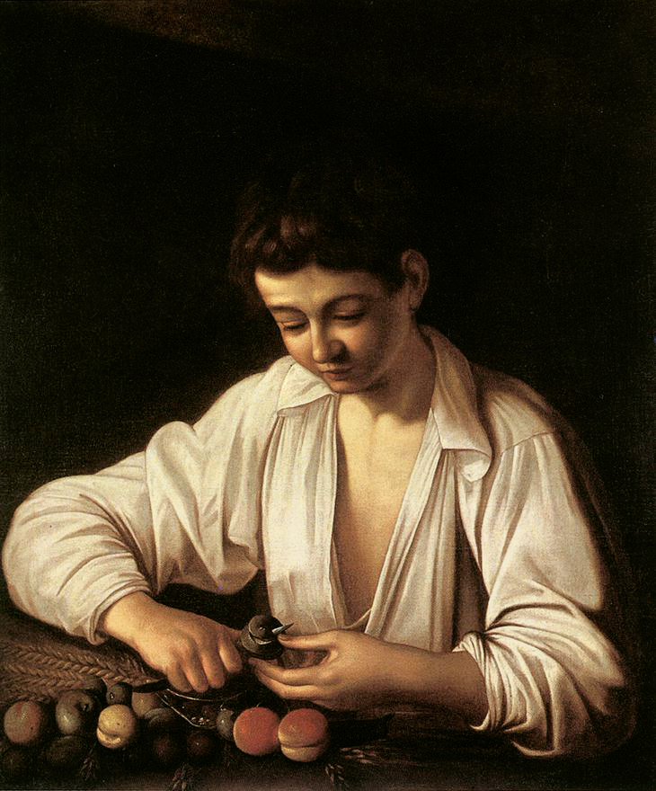 """Boy Peeling Fruit,"""" 1591"