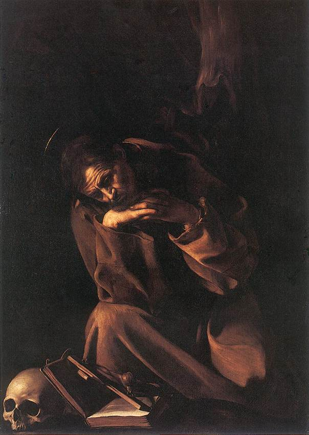 """St. Francis In Contemplation,"" 1606"