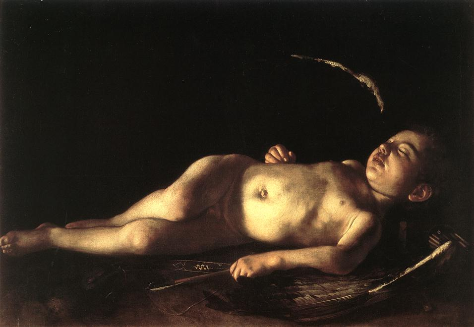 """Sleeping Cupid,"" 1608"