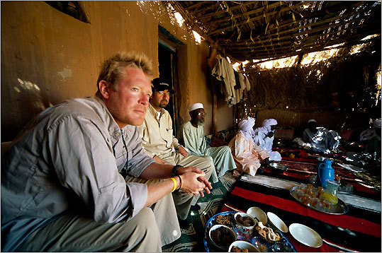 Spencer Wells and his team spent four years gathering DNA information from 350,000 people of diverse backgrounds. Seen here in Chad, 2009 - photo by David Evans