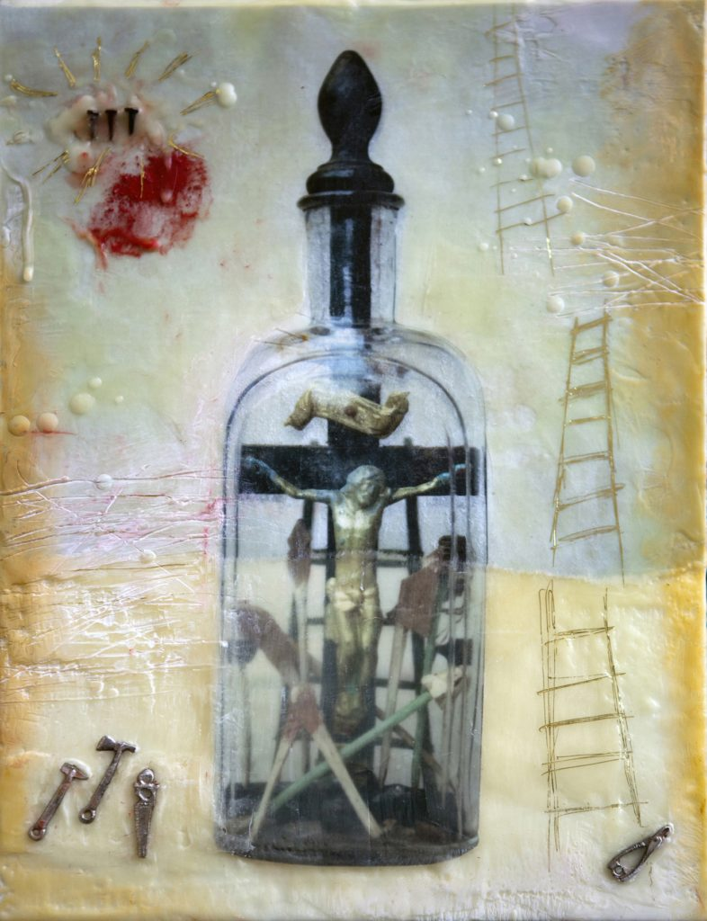 evans_jesus-bottle_9-x-12_encaustic-assemblage-20113