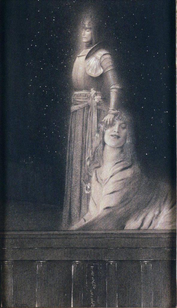 FernandKhnopff+WithVerhaeren-AnAngel+c1899+RoyalMuseumOfFineArts-brussels