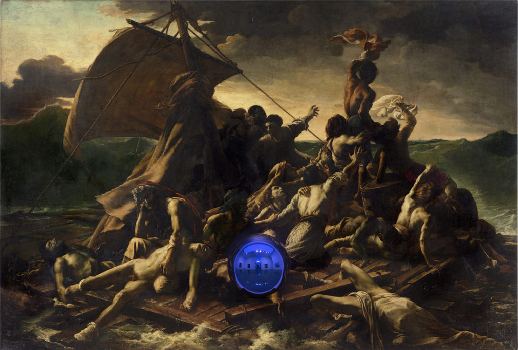 """The Raft Of The Medusa"" has been reinterpreted and reinvented since its creation. Most recently, it became part of Jeff Koons' ""Gazing Ball"" series. [Jeff Koons, Gazing Ball (Gericault Raft of the Medusa), 2014-2015]"