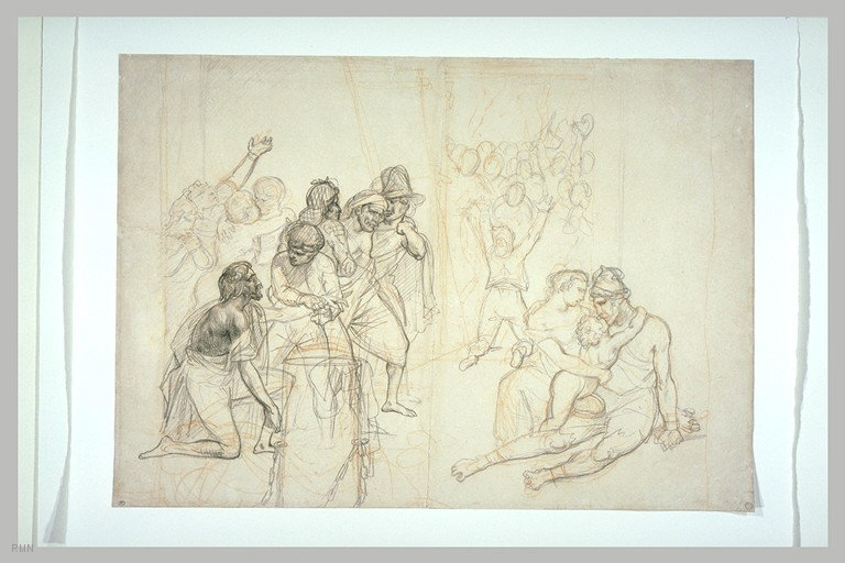 "Preparatory drawing for ""Opening The Doors For The Spanish Inquisition,"" 18"