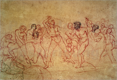 "Preparatory drawing for ""The African Slave Trade,"" 18"