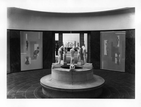 The Folkwang Museum, Schlemmer's murals on the walls, 1933