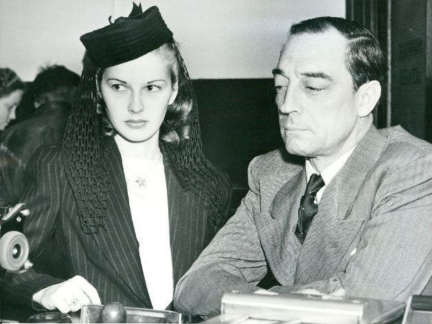 Eleanor Norris and Buster Keaton, applying for their wedding license, 19