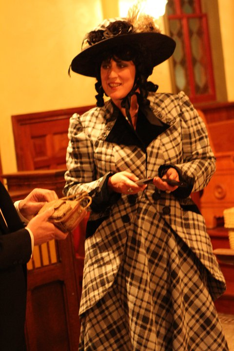 Terri Maxfield Lipp portrays Mary Fuller, at the first annual Ghost and Goblets Halloween Fundraiser for Historic Congressional Cemetery