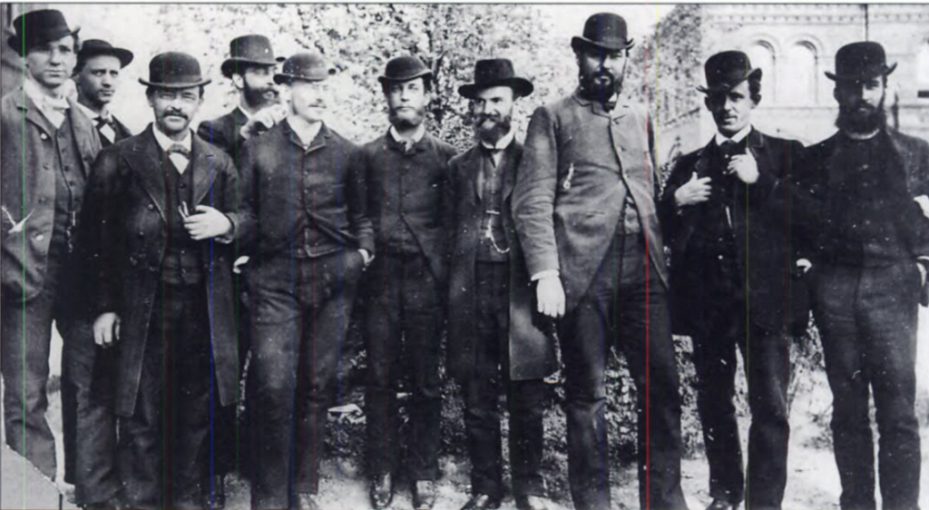 Fuller (on far left) seen with a group of DC area business men, c. 1900