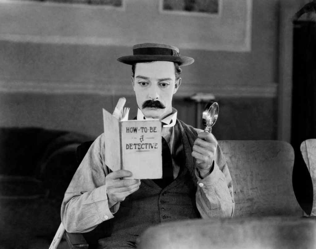 "Keaton in ""Sherlock, Jr."" 1924"