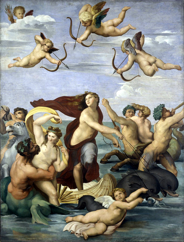 "Bouguereau's ""Triumph of Galatea,"" 1852 - after Raphael"