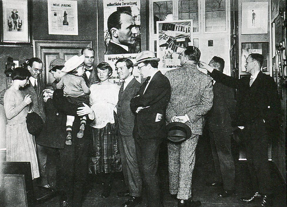 The First International Dada Fair, Berlin, 1920 (Hannah Höch, seen on far left)