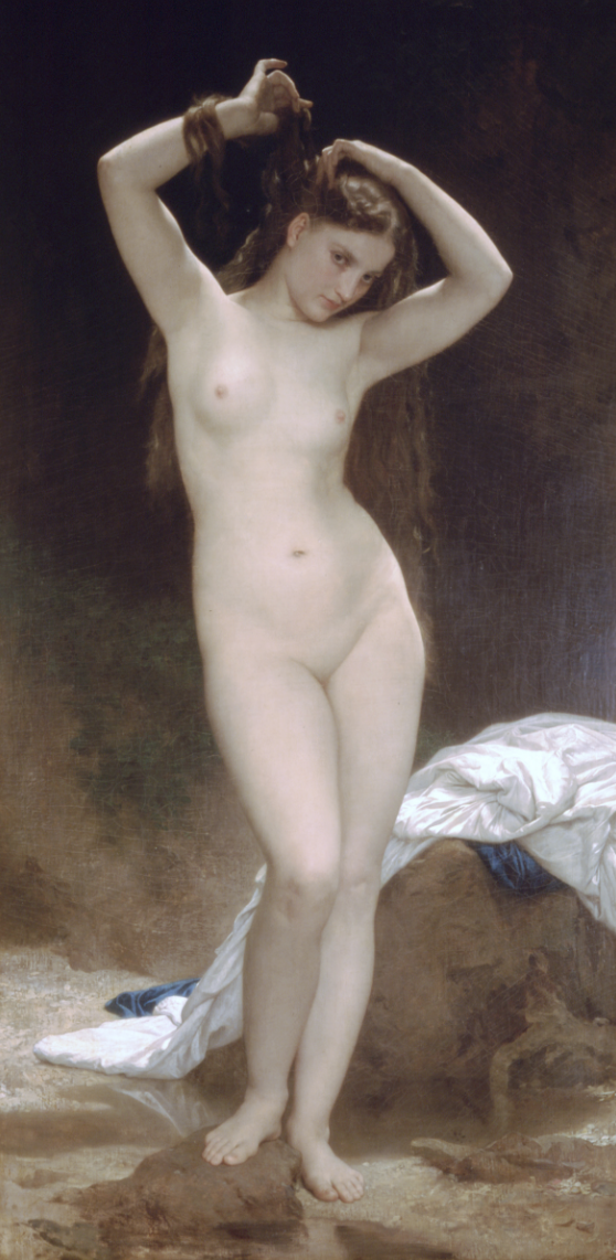 """""""Baigneuse,"""" 1870, now located at the Musée Gala-Salvador Dali, Figueres, Spain"""