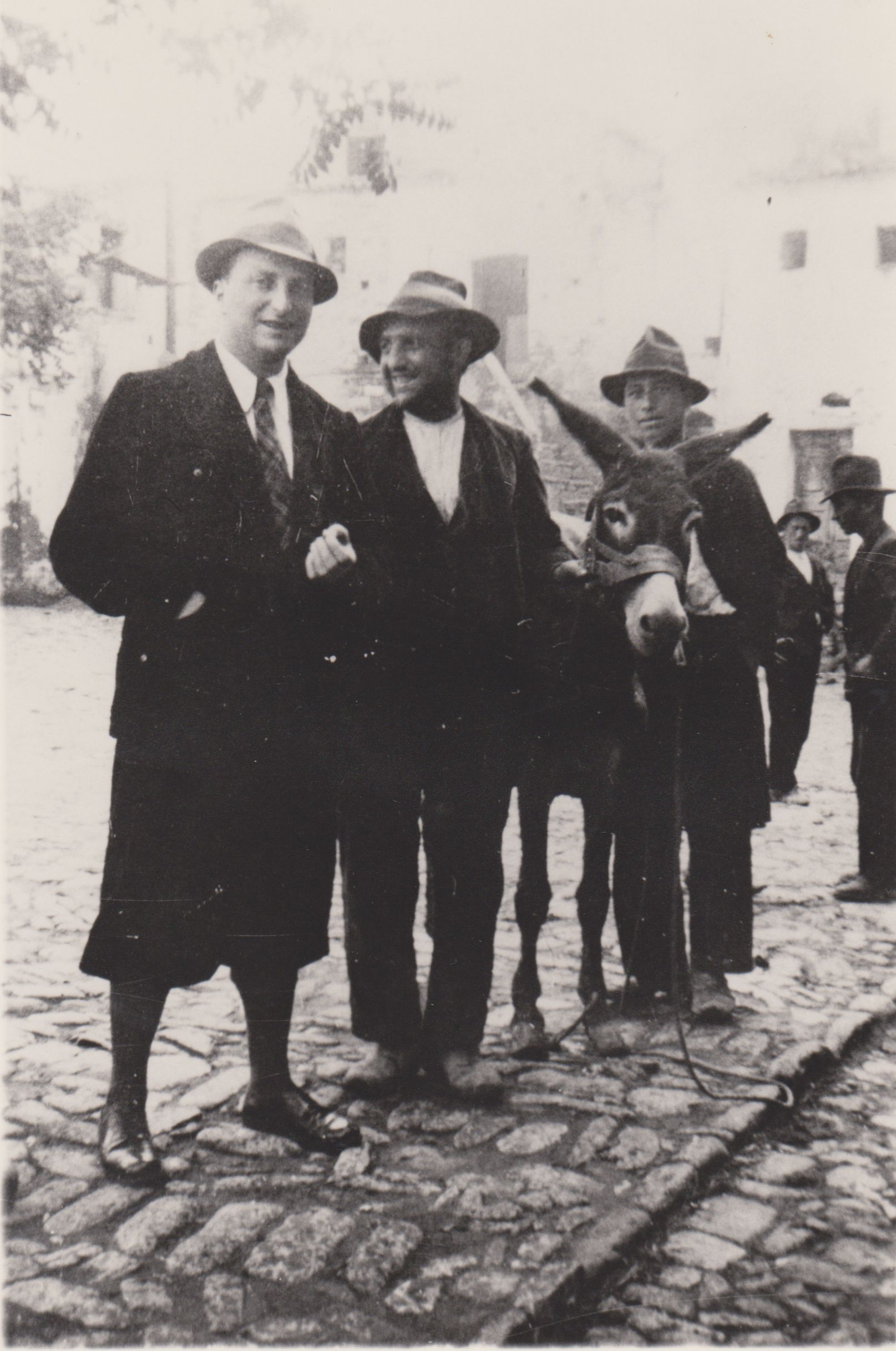 Levi (seen here on far left), while in exhile in Aliano