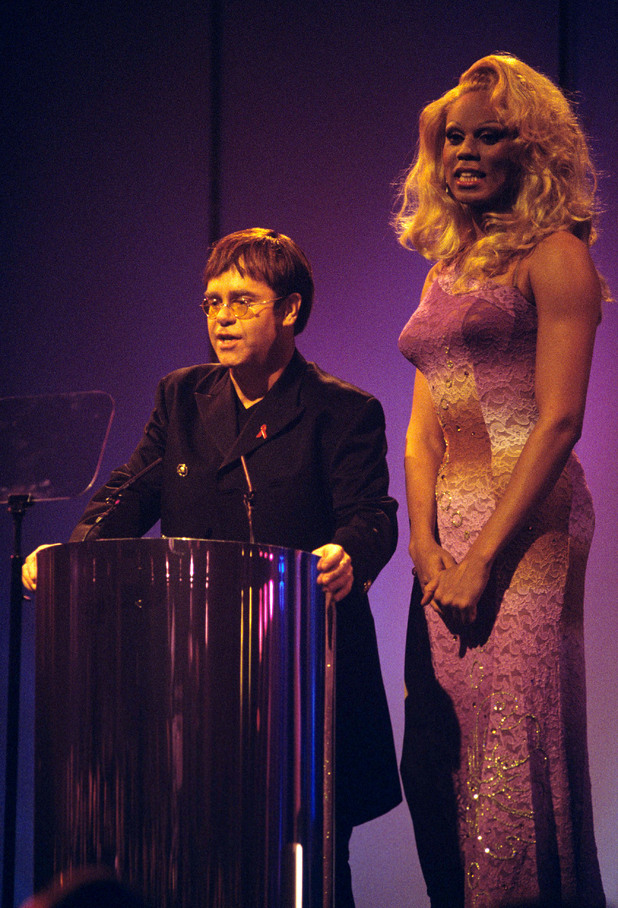 Elton John and RuPaul at the