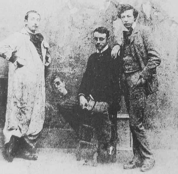 Matisse (center, seated) while a student of William Bouguereau