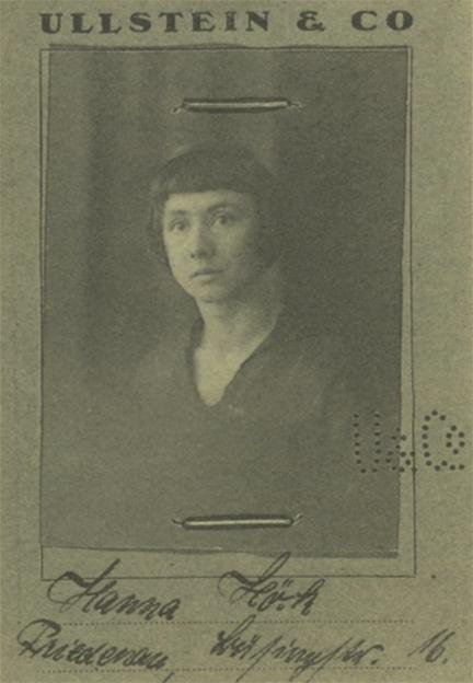 Hannah Hoch, 1916