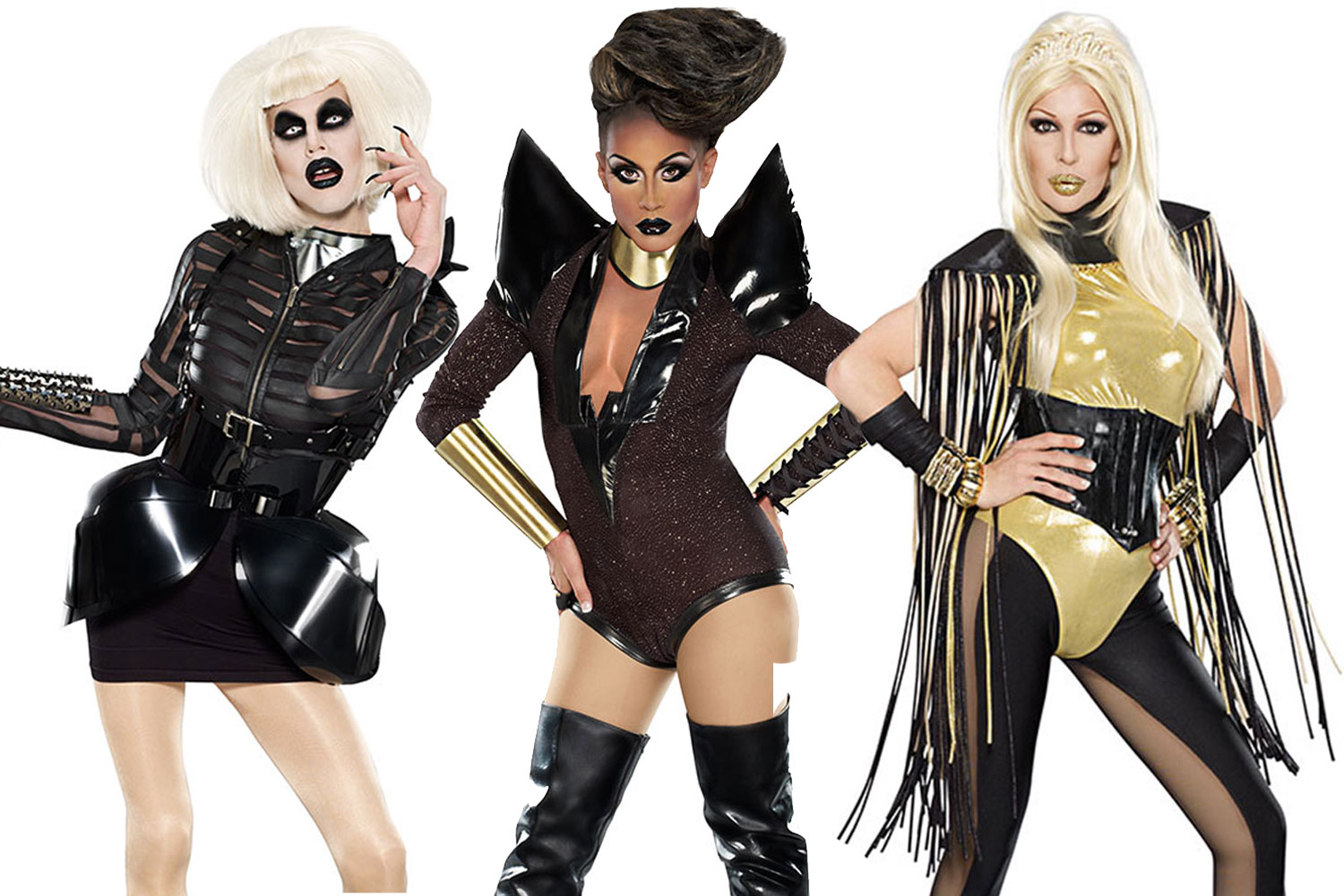 RuPaul's Drag Race, Season 4 finalists: Sharon Needles, Phi Phi O'Hara, and Chad Michaels