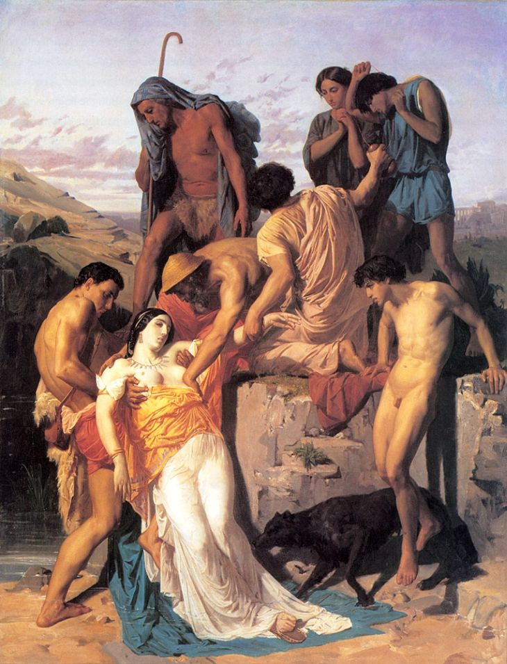 """Zenobia Discovered by Shepherds on the Banks of the Araxes,"" 1850"