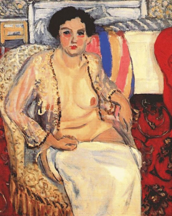 """Woman Seated on an Armchair, Open Robe,"" 1920"