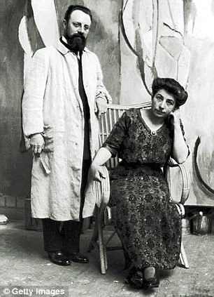 Matisse and his wife Amélie, 1913