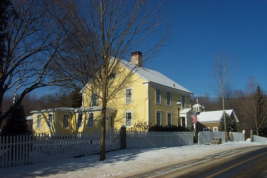 The home of Tanguy and Sage, 35 Old Town Farm Road, Woodbury, CT - built in 1830, seen here in 2004