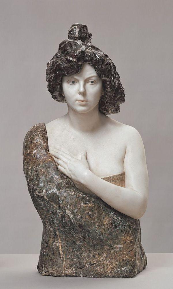 """""""Bust of Elsa Asenijeff,"""" c. 1900"""