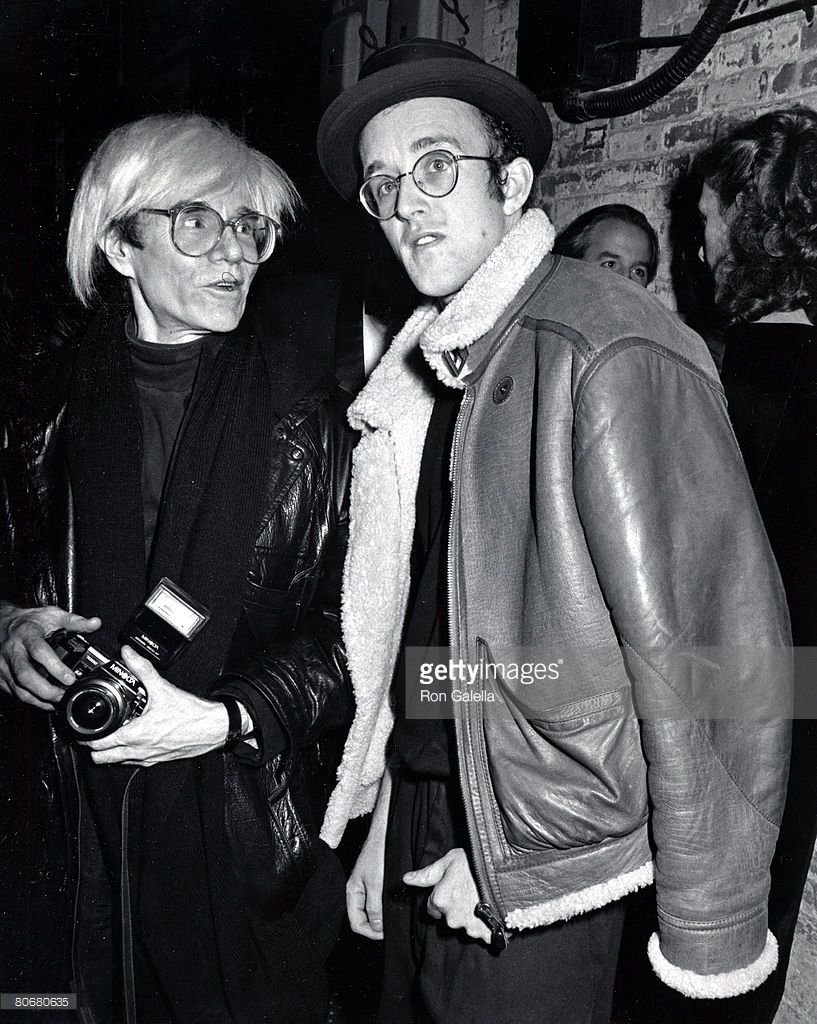 Warhol and Haring (1986, photo by Ron Galella)