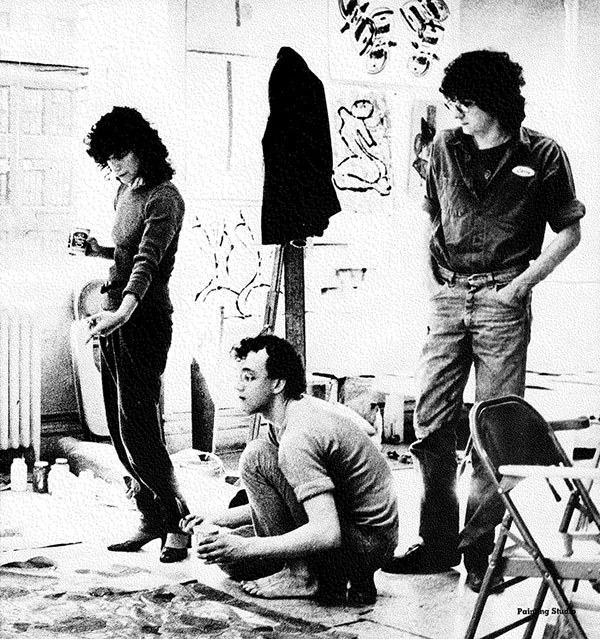 Keith Haring (center), 1978