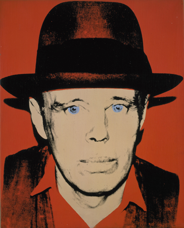 Portrait of Joseph Beuys by Andy Warhol (located now at The National Galleries of Scotland)