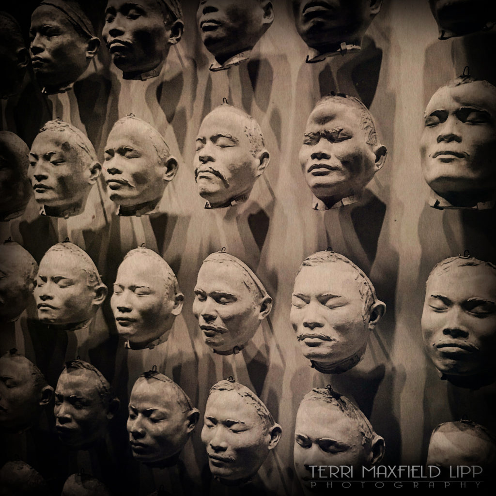Facial plaster casts of Nias Islanders from 1910, Amsterdam, Netherlands